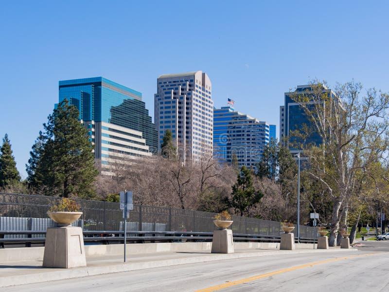Skyline de Sacramento do centro fotos de stock royalty free