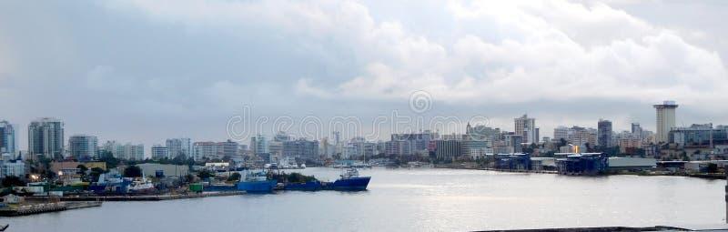 Skyline de San bonito Juan Puerto Rico imagens de stock