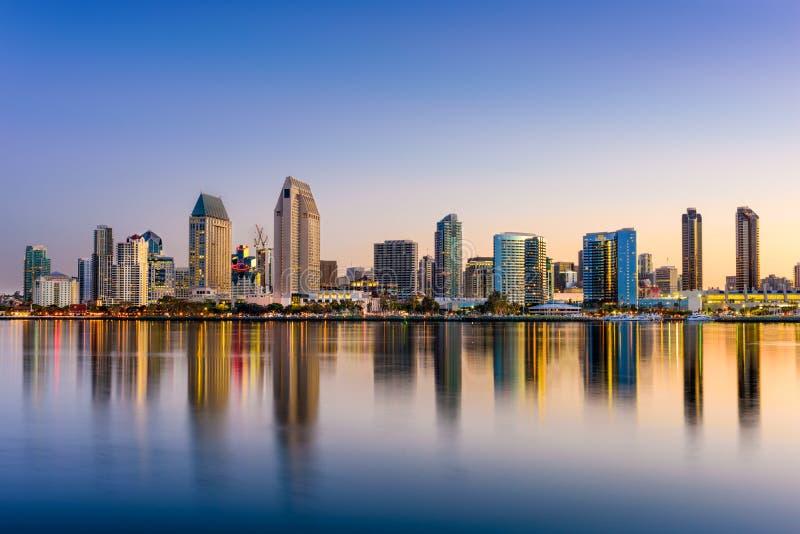 Skyline de San Diego imagens de stock