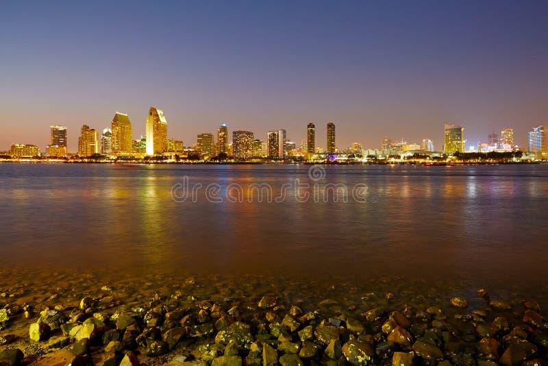 Skyline de San Diego de Coronado imagens de stock royalty free