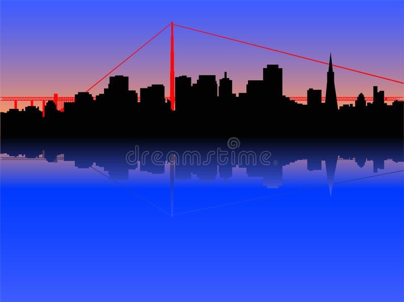 Skyline de San Francisco ilustração royalty free