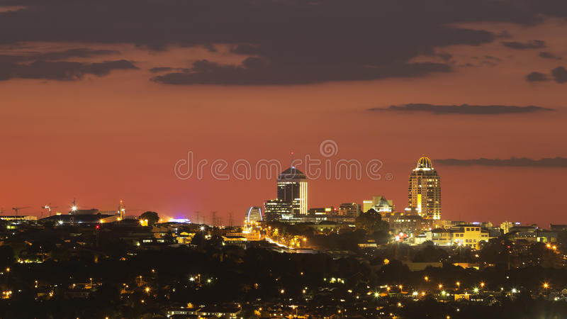 Skyline de Sandton imagem de stock