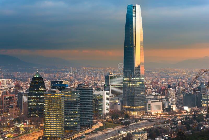 Skyline de Santiago do Chile imagem de stock royalty free