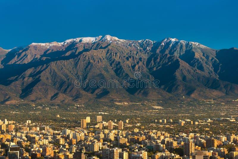 Skyline de Santiago do Chile foto de stock
