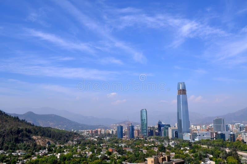 Skyline de Santiago, o Chile fotografia de stock royalty free