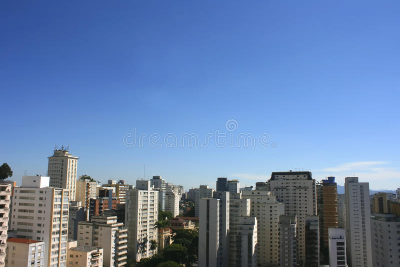 Skyline de Sao Paulo fotografia de stock