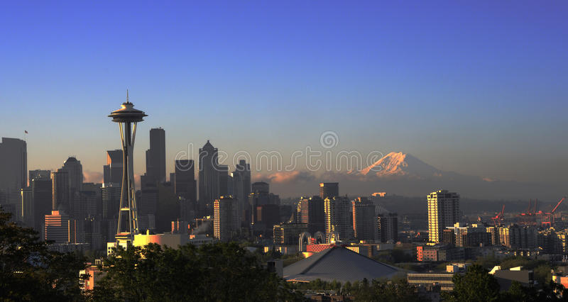 Skyline de Seattle foto de stock