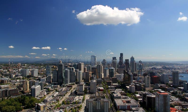 Skyline de Seattle fotografia de stock