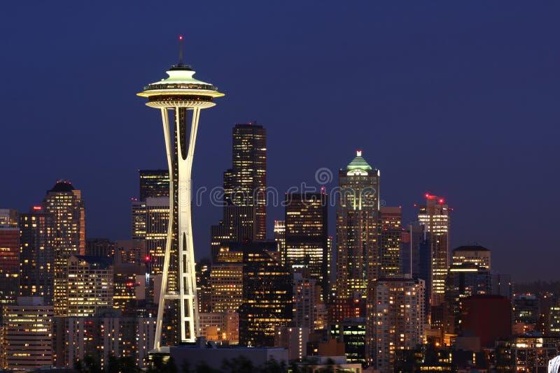 Skyline de Seattle do parque do Kerry imagem de stock