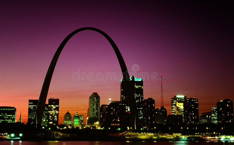Skyline de St Louis foto de stock royalty free
