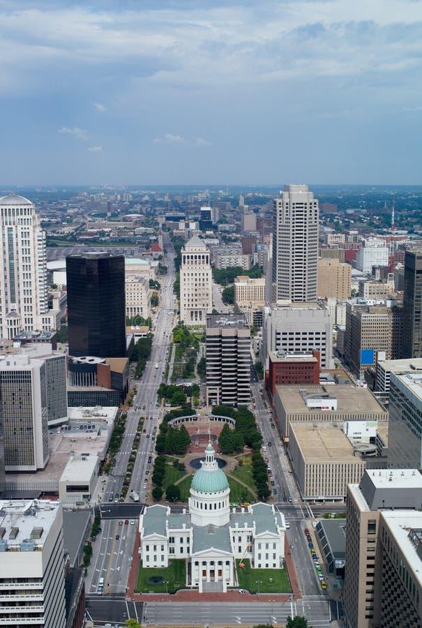 Skyline de St Louis, Missouri, EUA foto de stock royalty free