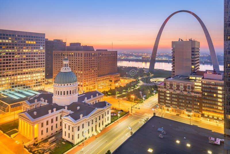 Skyline de St Louis, Missouri, EUA fotografia de stock