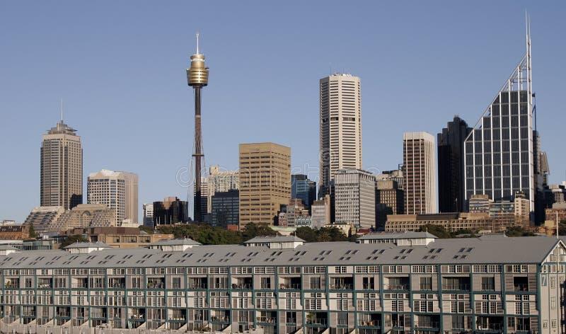 Skyline de Sydney fotos de stock royalty free