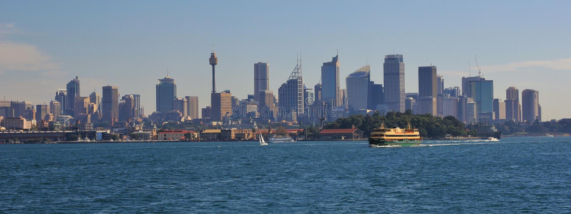 Skyline de Sydney imagem de stock royalty free