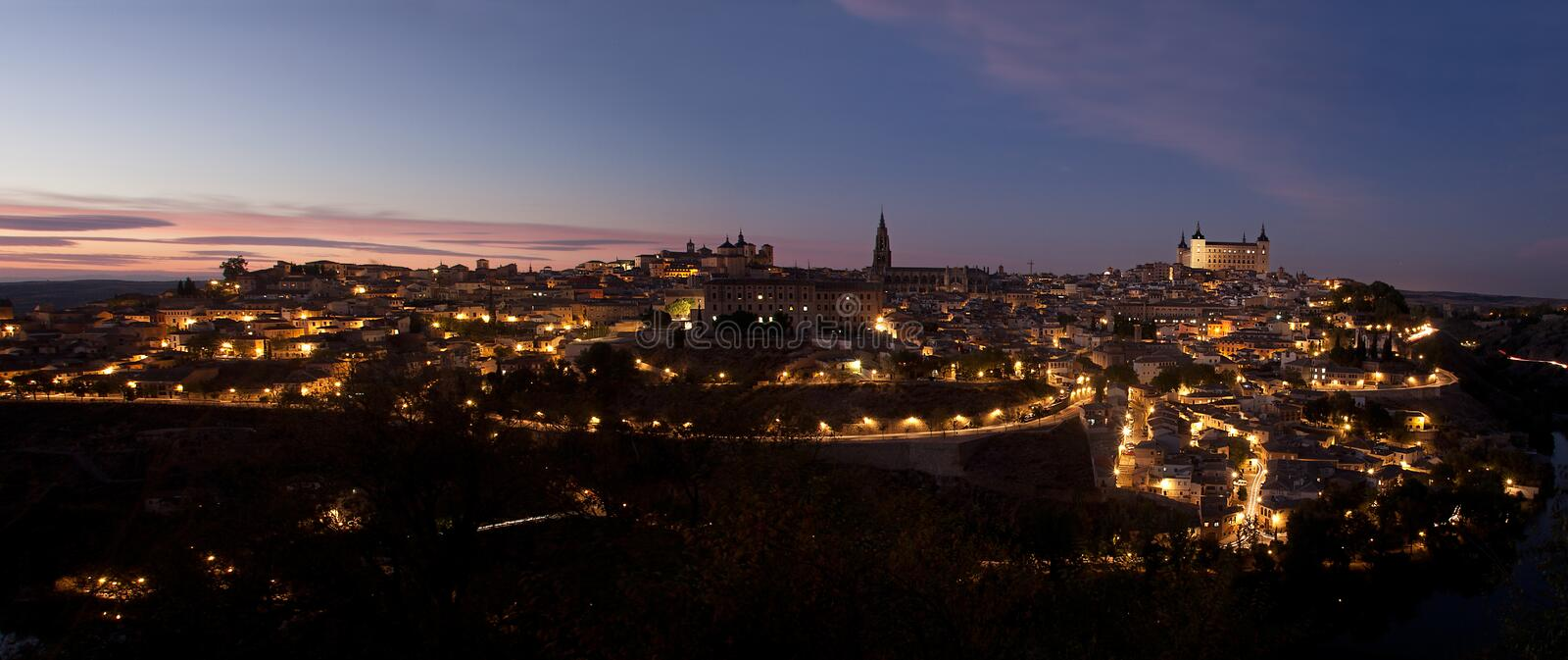 Skyline de Toledo foto de stock royalty free