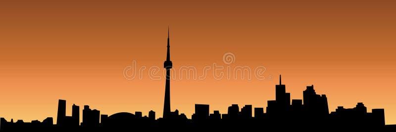 Skyline de Toronto ilustração royalty free