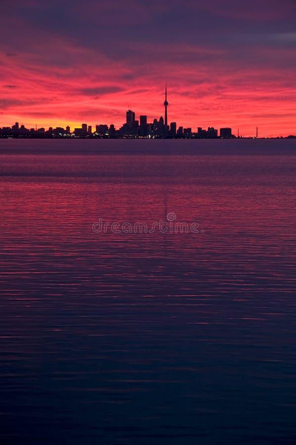 Skyline de Toronto no alvorecer imagens de stock royalty free
