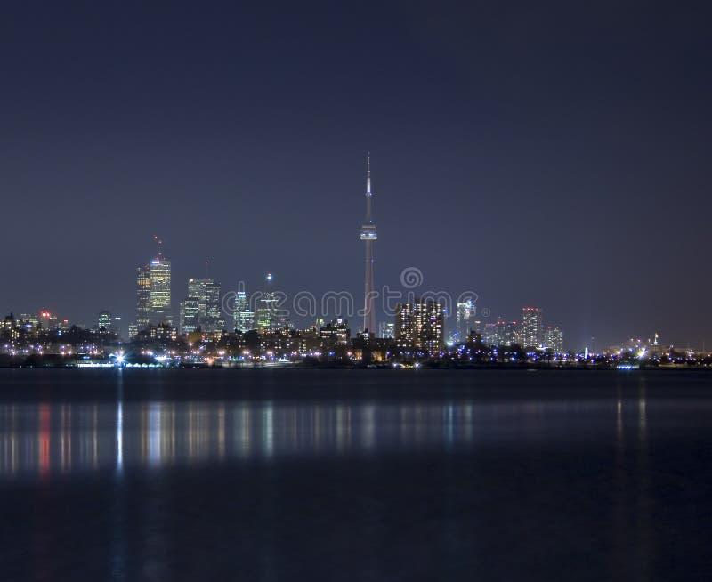 Skyline de Toronto (noite) fotos de stock royalty free