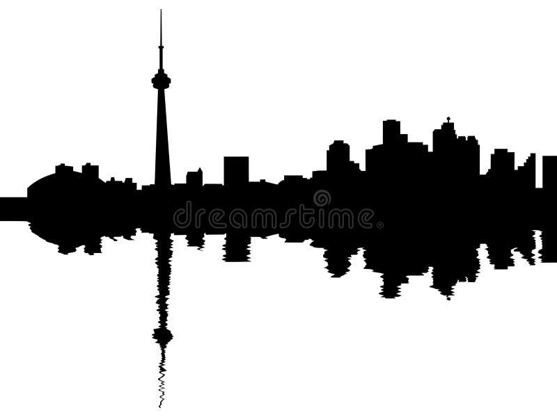 Skyline de Toronto refletida ilustração do vetor