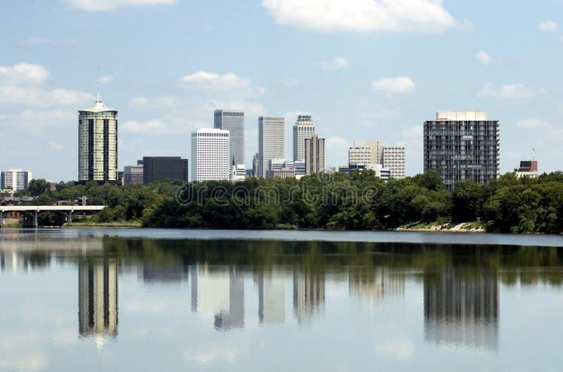 Skyline de Tulsa imagem de stock royalty free