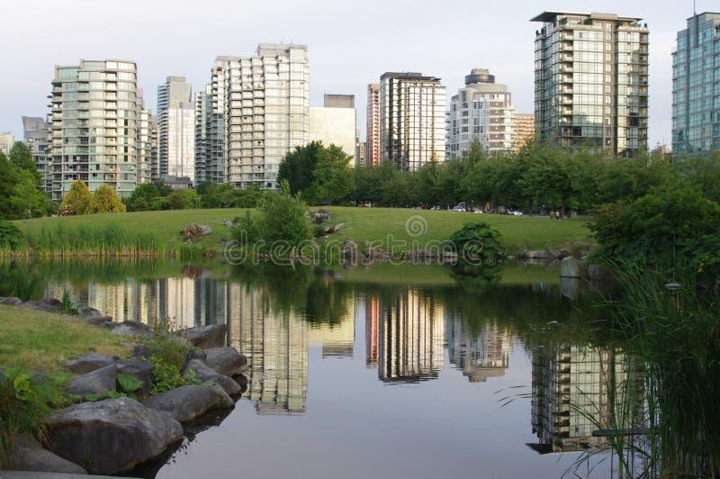 Skyline de Vancôver foto de stock royalty free