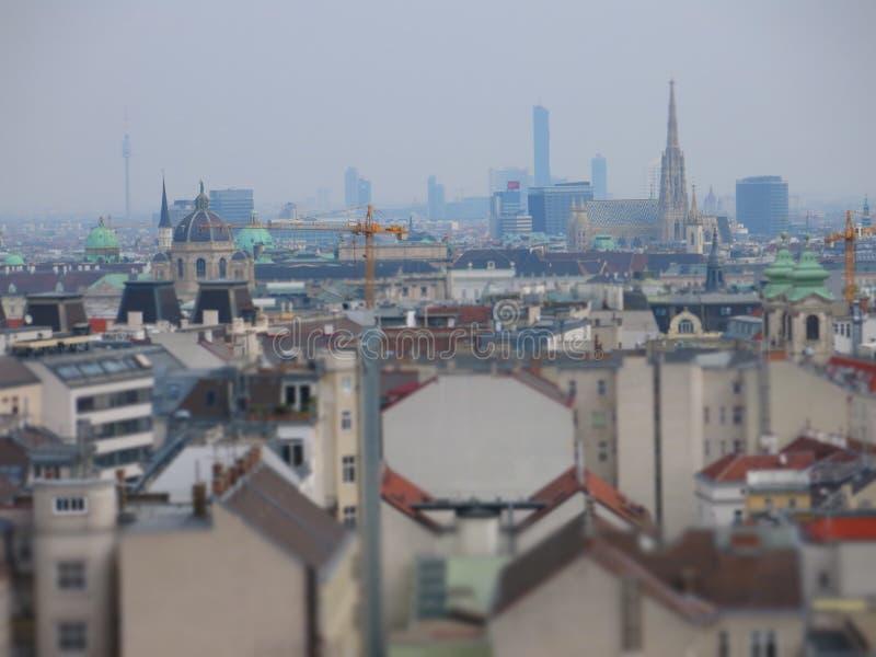 Skyline de Viena imagens de stock royalty free