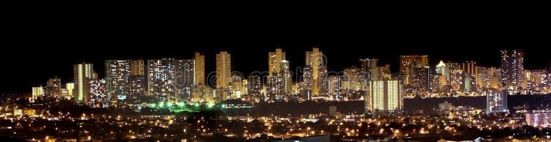 Skyline de Waikiki foto de stock royalty free