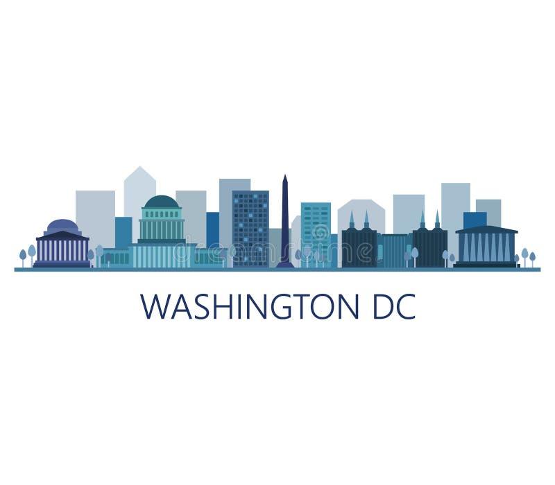 Skyline de Washington ilustração royalty free