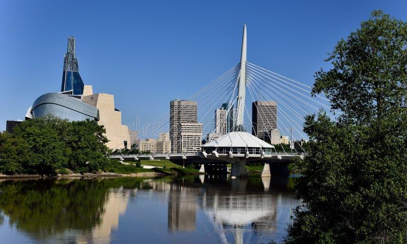 Skyline de Winnipeg fotografia de stock royalty free