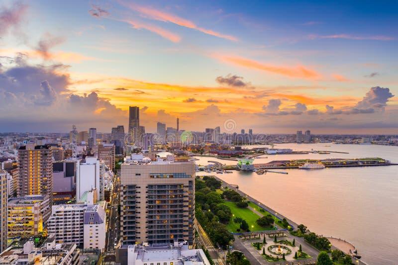 Skyline de Yokohama Japão foto de stock royalty free