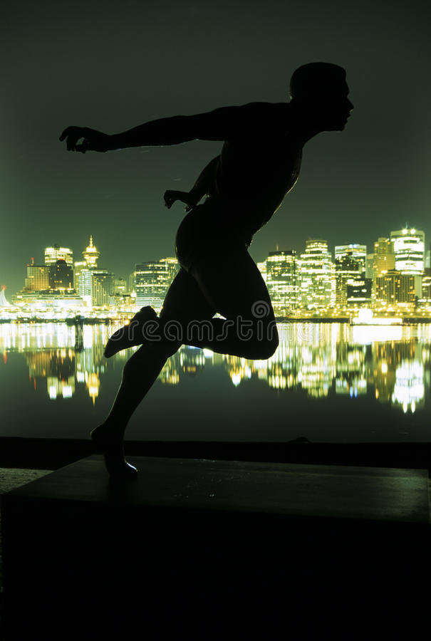 Skyline- del centro Vancouver, Canada immagine stock libera da diritti
