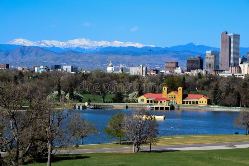 Skyline Denver-, Kolorado stockfoto