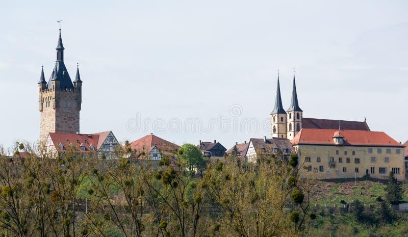 Skyline der Stadt von schlechtem Wimpfen Deutschland stockfoto