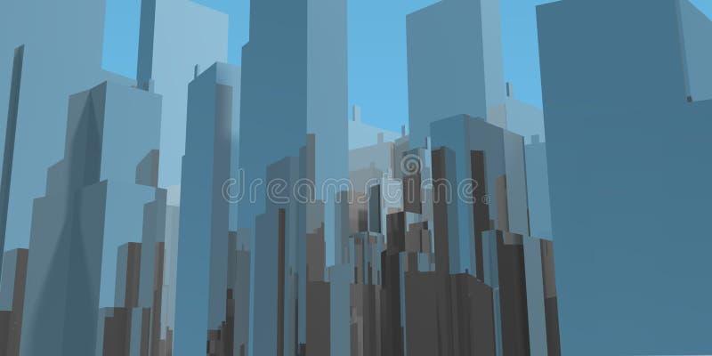 Skyline des blauen Himmels stock abbildung