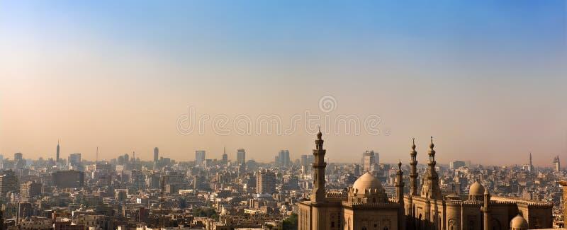 Skyline des islamischen Kairos stockfoto