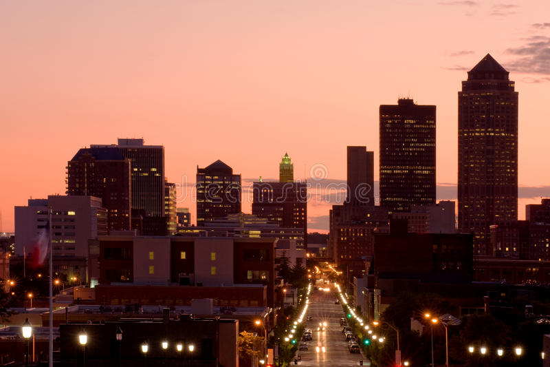 Skyline DES-Moins lizenzfreie stockfotografie