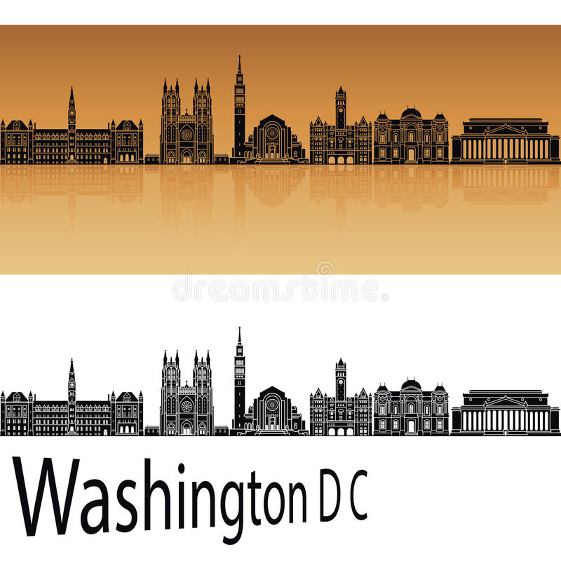 Skyline des Washington DC V2 vektor abbildung
