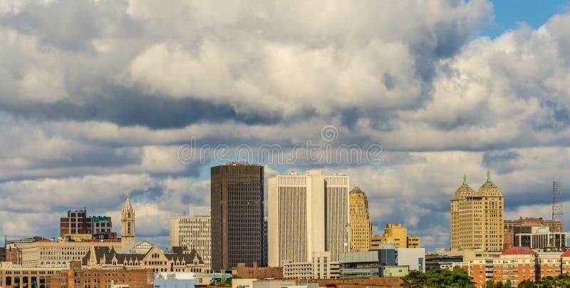 Skyline do búfalo imagem de stock royalty free
