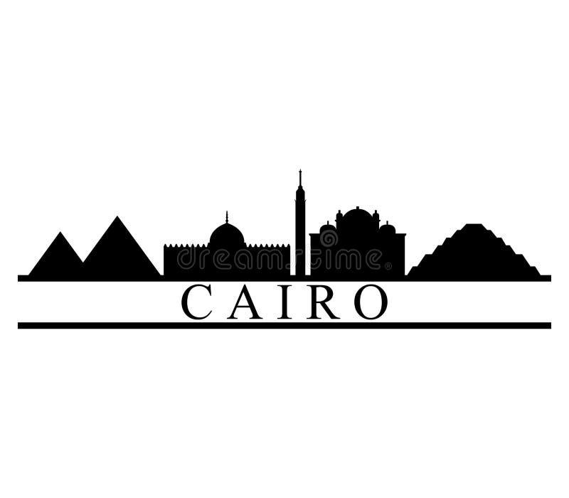 Skyline do Cairo ilustração do vetor