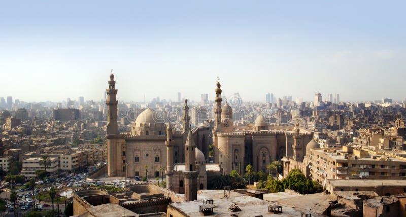 Skyline do Cairo, Egipto fotos de stock