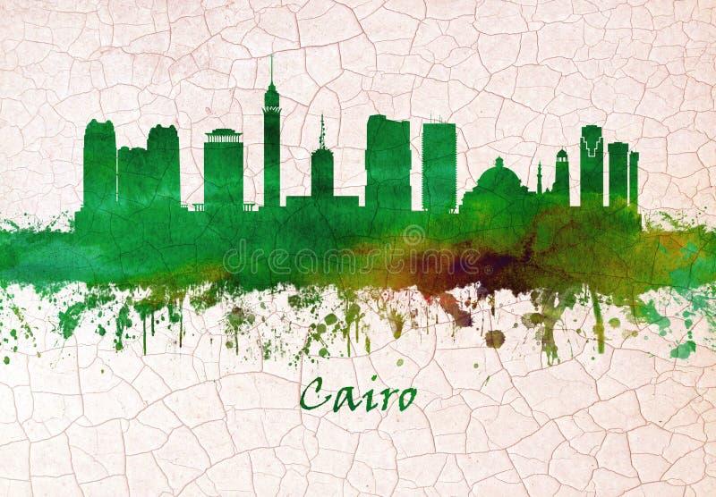 Skyline do Cairo Egito ilustração royalty free