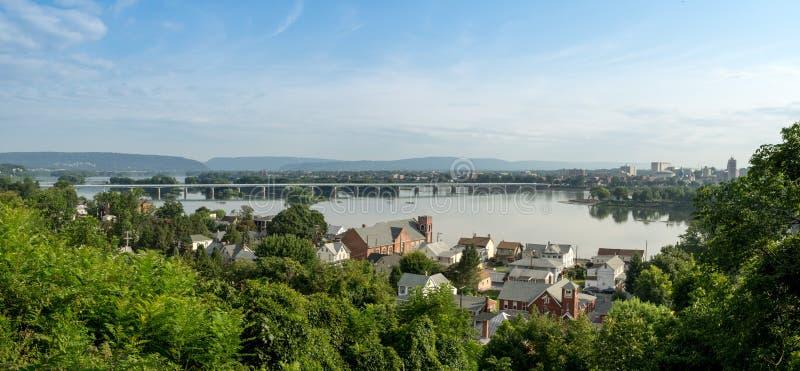 Skyline do capital de Harrisburg foto de stock