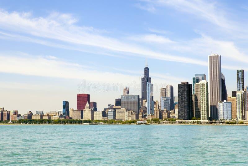 Skyline do centro de Chicago foto de stock royalty free