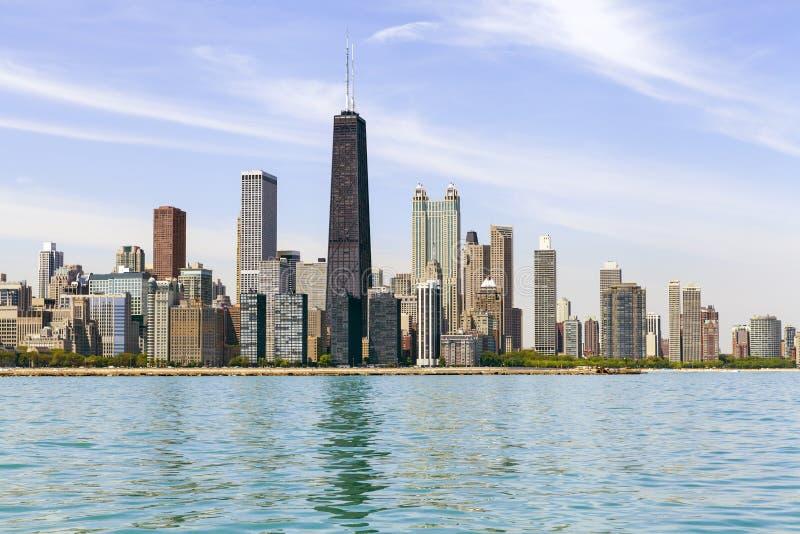 Skyline do centro de Chicago imagens de stock