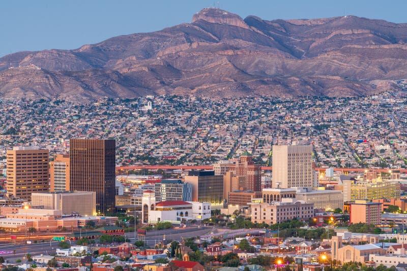 Skyline do centro de El Paso, Texas, EUA imagem de stock royalty free