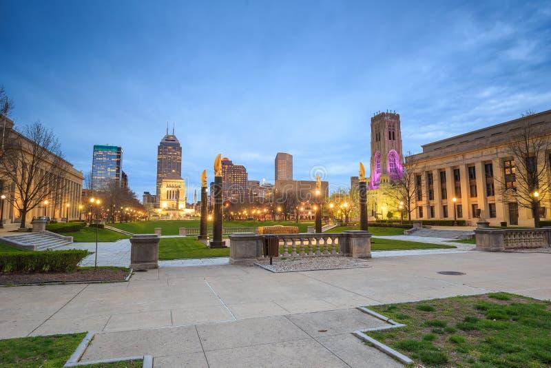 Skyline do centro de Indianapolis fotografia de stock royalty free