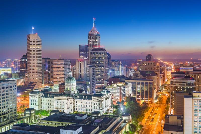 Skyline do centro de Indianapolis, Indiana, EUA fotos de stock