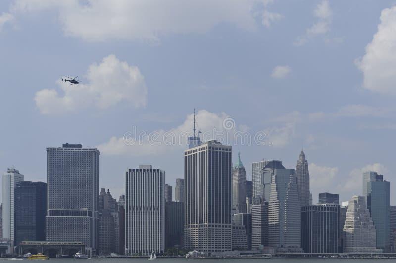Skyline Do Centro De Manhattan Fotos de Stock