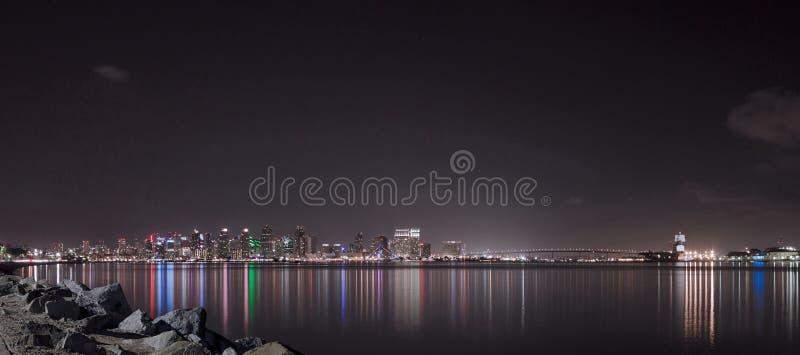 Skyline do centro de San Diego Finest fotos de stock royalty free