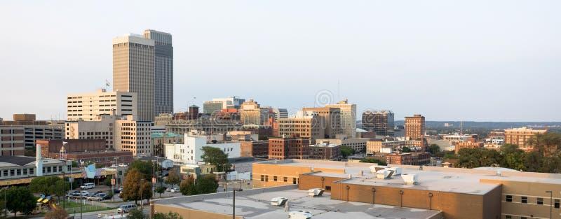Skyline do centro Omaha Nebraska Urba da cidade da arquitetura das construções imagem de stock